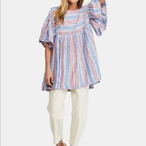Free People Summer Nights Wide Sleeve Tunic